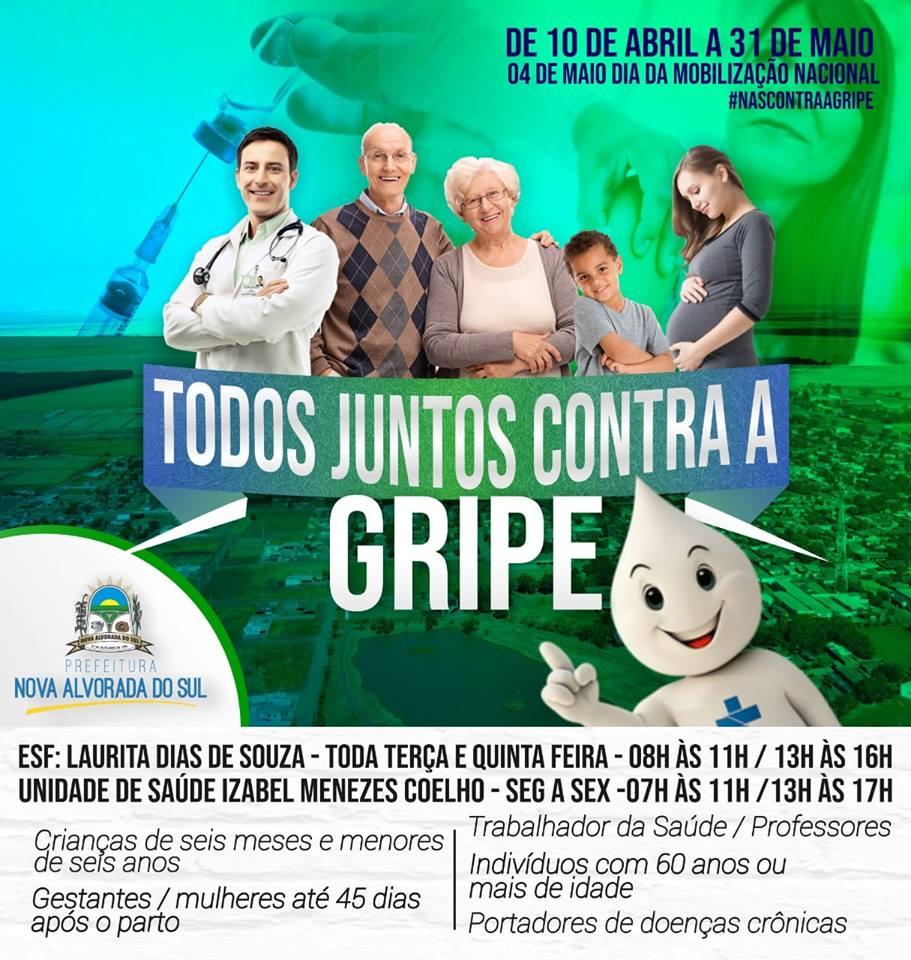 Administração Municipal de Nova Alvorada do Sul inicia a Campanha Nacional de Vacinação contra a Influenza 2019