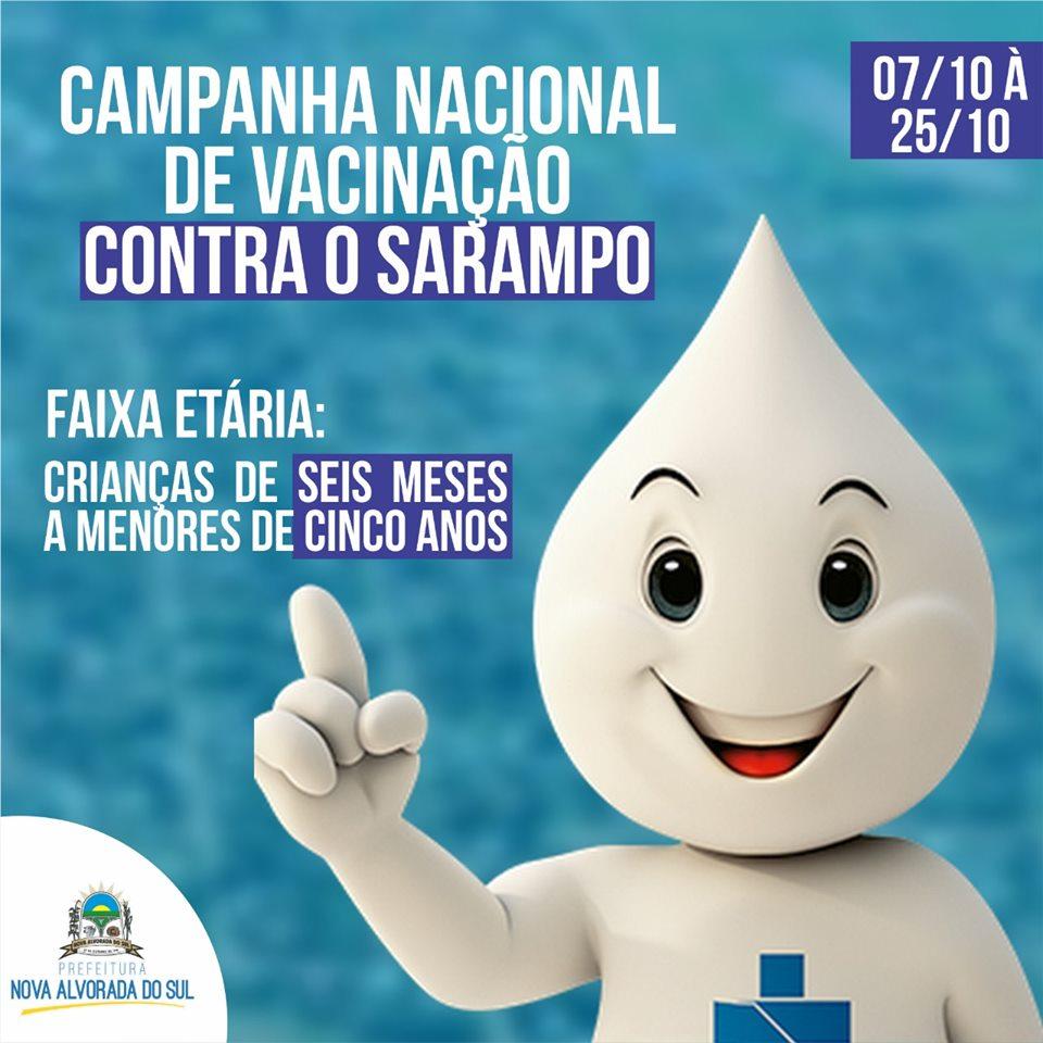 Administração Municipal de Nova Alvorada do Sul inicia a Campanha Nacional de Vacinação Contra o Sarampo