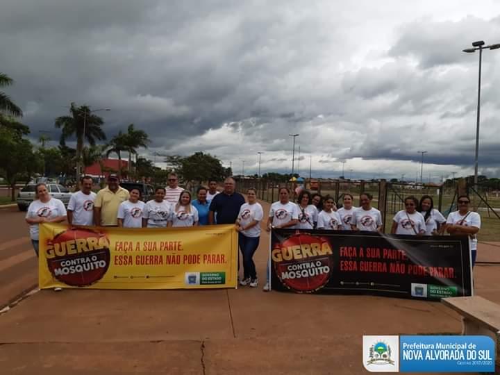 Administração municipal de Nova Alvorada do Sul realiza blitz de conscientização contra a dengue