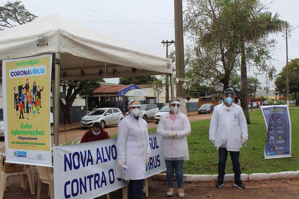 Prefeitura Municipal de Nova Alvorada do Sul realiza barreira Sanitária Itinerante em Combate ao novo Coronavírus