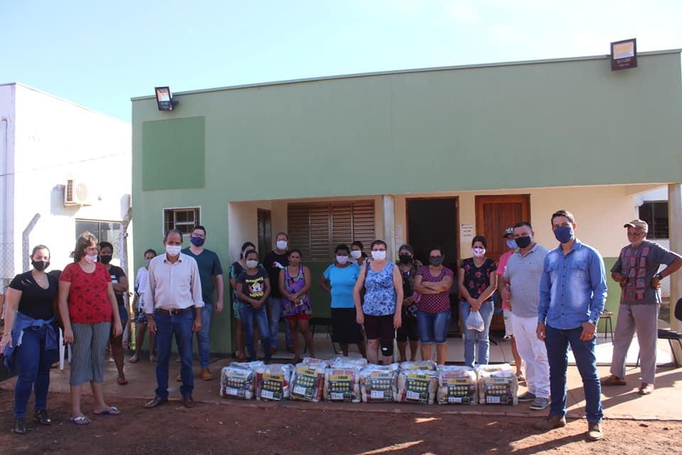 Administração Municipal de Nova Alvorada do Sul realiza a entrega de cestas emergênciais em parceria com Governo do Estado de MS