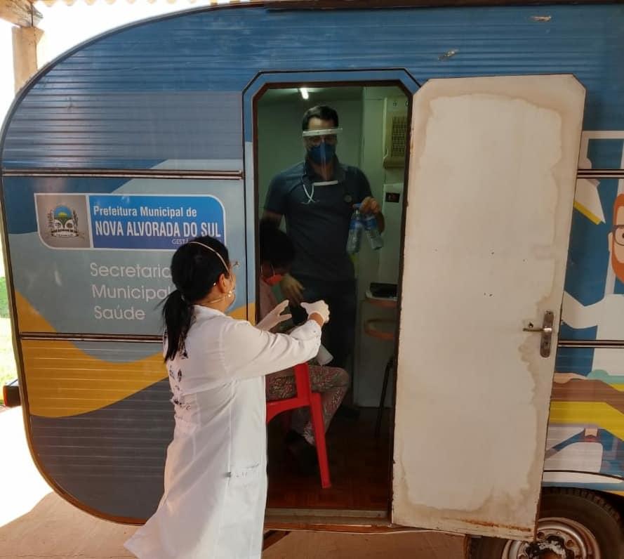 Prefeitura Municipal de Nova Alvorada do Sul realiza atendimento médico no Assentamento São João